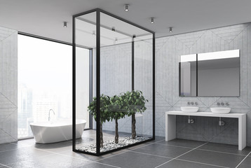 Concrete bathroom side