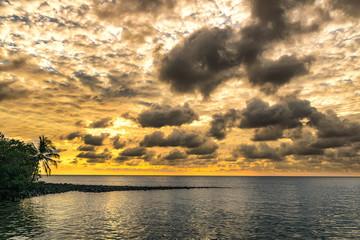 yellow sunset in thai island, ko kut