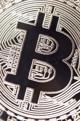 SIlver bitcoin, can be used as backgrouond.