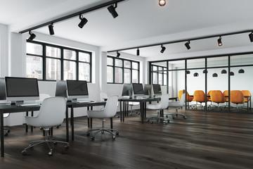 Open space office corner