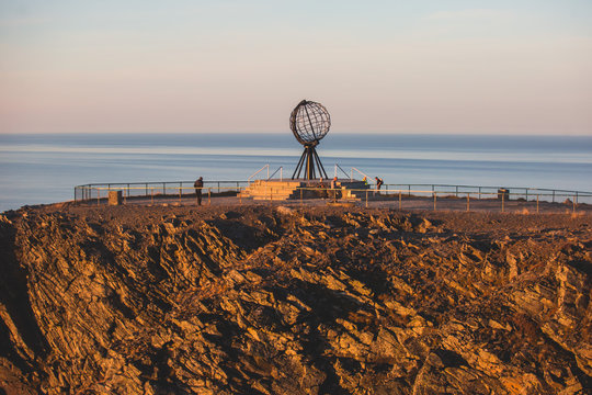 View of Nordkapp, the North Cape, Norway, the northernmost point of mainland Norway and Europe, Finnmark County
