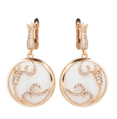 Jewelry earring isolated