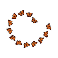 butterflies spiral insect bug icon image vector illustration design