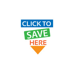 Click to save here icon