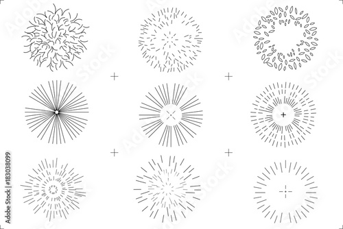 Set Of Drawing Trees On White Background Top View For Architecture And Landscape
