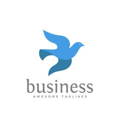 dove vector logo concept illustration. falcon Bird logo. flying Dove logo. blue Bird icon. animal Bird sign. free Bird symbol. peace symbol Vector logo template, love and care symbol