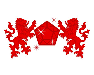 red diamond lion emblem