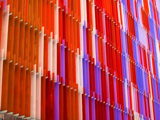 acrylic plastic sheet interior seven level line and color orange purple red