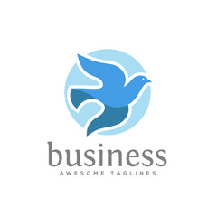 dove vector logo concept illustration, falcon Bird logo, animal rescue foundation , flying Dove logo.animal Bird sign,free Bird symbol, peace symbol Vector logo template, love and care symbol