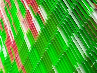 acrylic plastic sheet interior, text A design on 60 degree, moss green apple