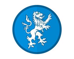 blue lion emblem