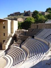 Teatro romano de Sagunto. Año 50 d. C. en la ladera septetrional de la ciudad de Sagunto ( Comunidad Valenciana, España)
