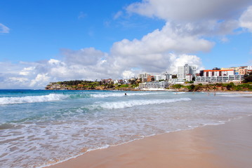 View of the beach on a sunny day. Bondi is one of Australia's most iconic beaches.
