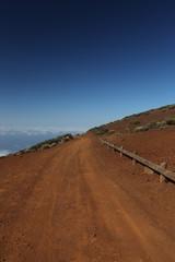Desert road in Canary Islands