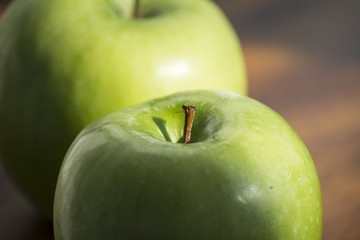 Close up of Granny Smith Apples