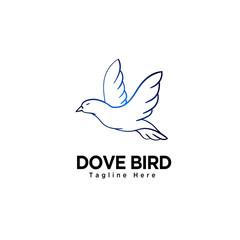 Dove bird art logo
