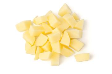 Rohe Kartoffeln geschnitten