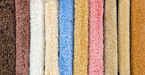 different carpet samples