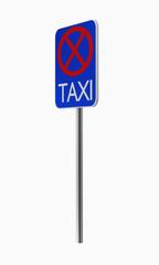 Deutsche Verkehrszeichen: Taxistand.