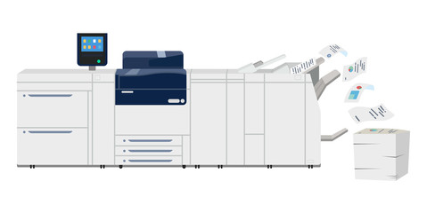 Multifunction copy printer scanner. Xerox machine Wall mural