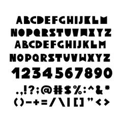 Alphabet in Scandinavian style