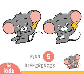 Find differences, education game, Mouse