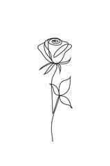 rose line icon