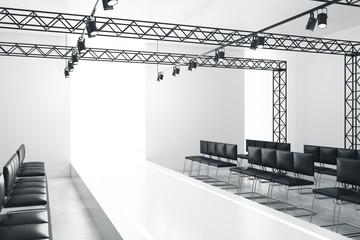 White empty fashion runway