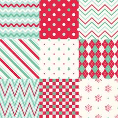 seamless background christmas geometric pattern