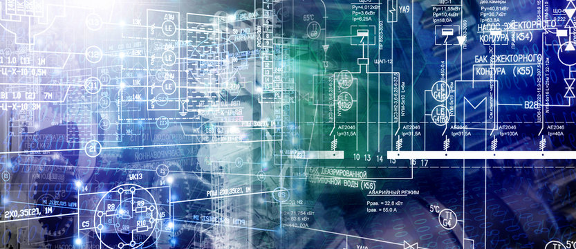 manufacturing technology concept background