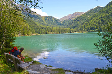 View on Lake on Monterselva, Italy