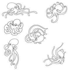 Octopus Coloring Set