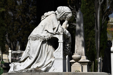 English Cemetery in Florence wonderful statues