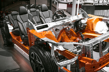 Body frames of the car