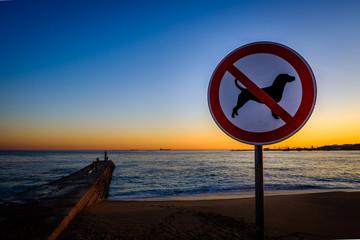 Keine Hunde am Strand!