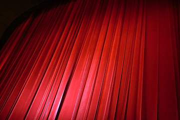 Red curtain in cinema