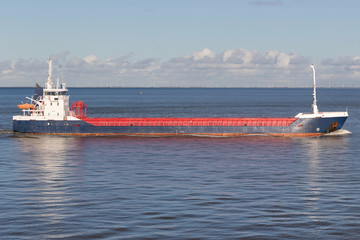 general cargo ship at sea