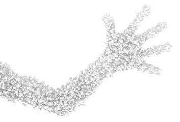 White Symbol Crowd Arm
