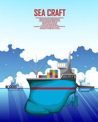 A poster with an illustration of a merchant marine vessel
