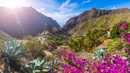 Wall Mural - Masca village, the most visited tourist attraction of Tenerife, Spain.