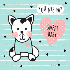 sweet dog card