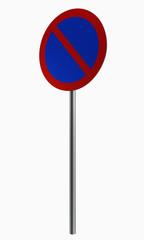 Deutsche Verkehrszeichen: eingeschränktes Halteverbot.