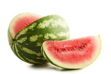 Watermelons isolated on white background