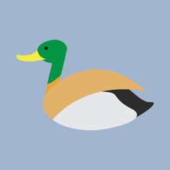 Cute Goose in flat style