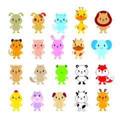 cute animals cartoon vector collection