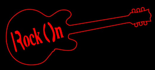 Rock On Neon Light Guitar