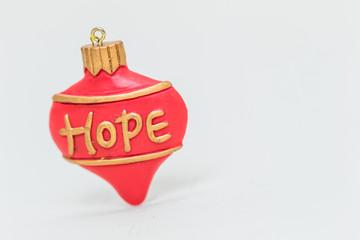 Christmas ornaments - HOPE