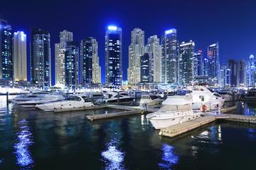 Night skyline of Dubai