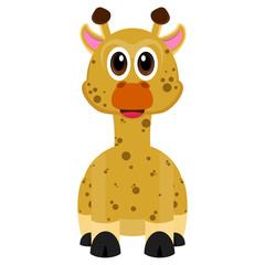 Isolated cute giraffe