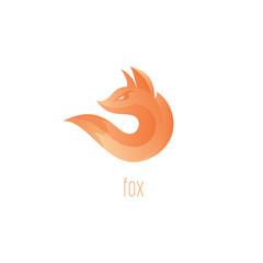 Logo fox. Fox Flame Abstract Vector Symbol
